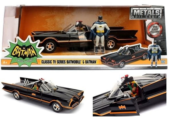 1:24 1966 Batmobile w/Batman Figurine -- Classic TV Series -- JADA
