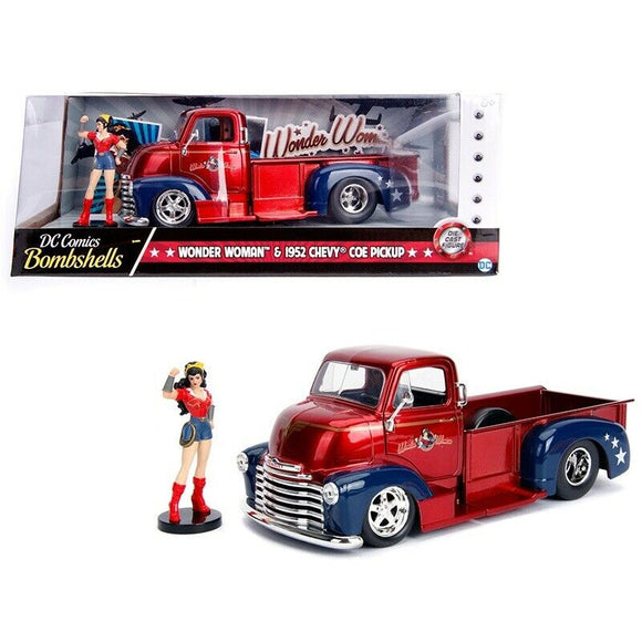 1:24 Wonder Woman with 1952 Chevy COE Pickup -- Hollywood Bombshells JADA