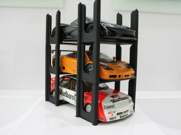 1:18 Multi Model Car Stacker -- 3D Printed Plastic Stands