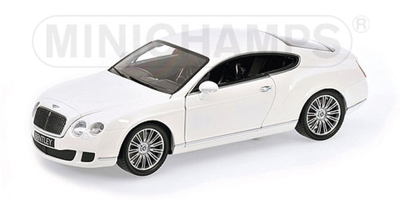 1:18 2008 Bentley Continental -- White -- Minichamps