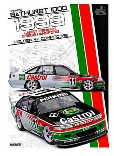 1993 Bathurst Winner Print -- Holden VP Commodore Perkins -- Peter Hughes