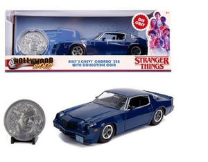 1:24 Billy's 1979 Chevrolet Camaro Z28 w/Coin -- Stranger Things -- Hollywood Rides JADA