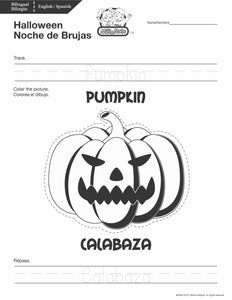 Halloween / Noche de Brujas Worksheets_BILINGUAL / BILINGÜE_ENGLISH / SPANISH