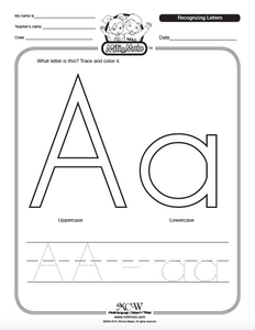 Letter A_English