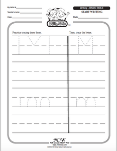 LINES_BASIC WRITING_English Worksheets