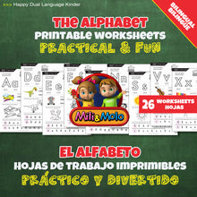 Load image into Gallery viewer, Alphabet_Alfabeto_Worksheets_BILINGUAL / BILINGÜE_ENGLISH / SPANISH