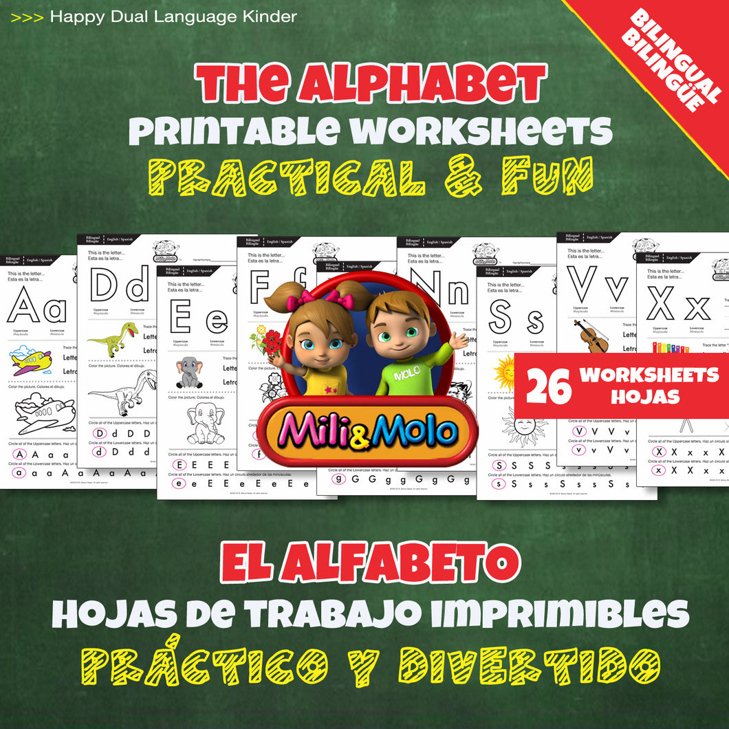 Alphabet_Alfabeto_Worksheets_BILINGUAL / BILINGÜE_ENGLISH / SPANISH