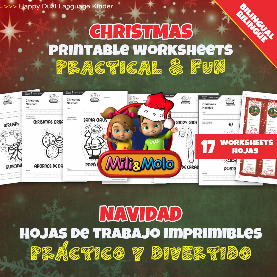 Christmas_Navidad_Worksheets_BILINGUAL / BILINGÜE_ENGLISH / SPANISH