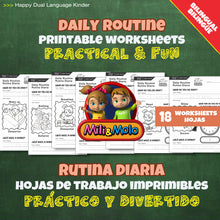 Load image into Gallery viewer, Daily Routine_Rutina Diaria_Worksheets_Bilingual / Bilingüe_English / Spanish