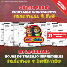 Load image into Gallery viewer, On the Farm_En la Granja_Worksheets_BILINGUAL / BILINGÜE_ENGLISH / SPANISH