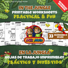 Load image into Gallery viewer, In the Jungle_En la Jungla_Worksheets_BILINGUAL / BILINGÜE_ENGLISH / SPANISH