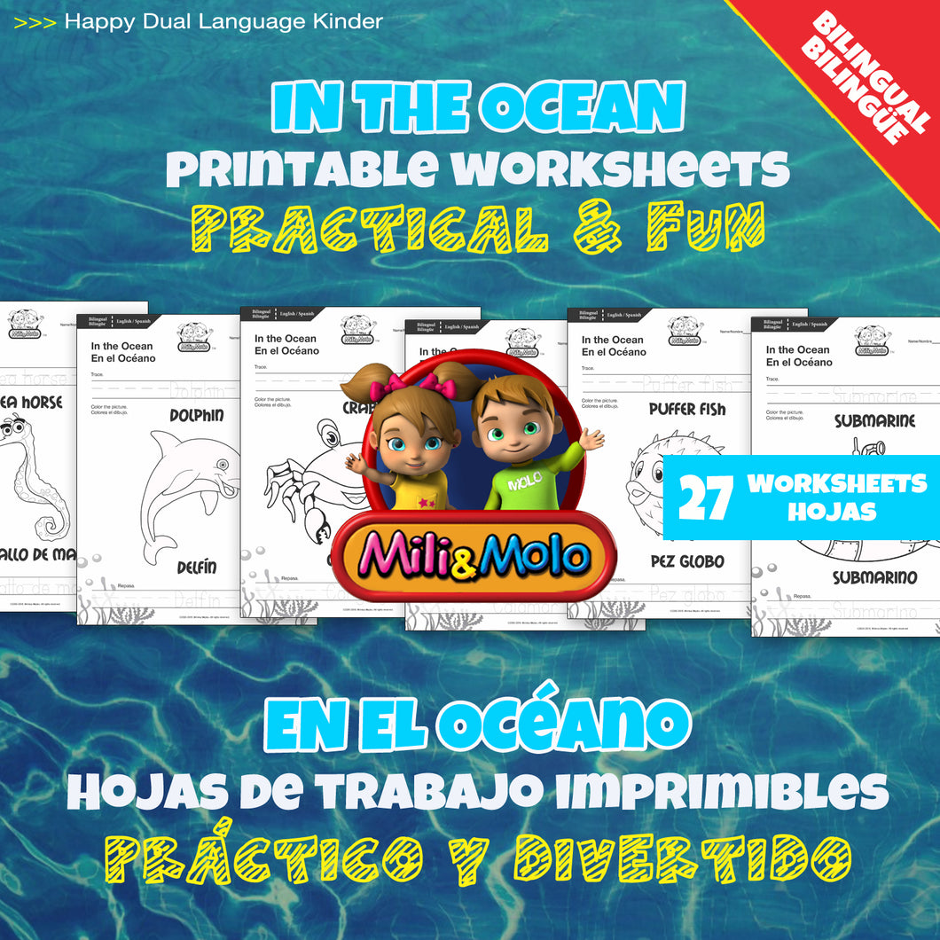 Ocean_Océano_Worksheets_BILINGUAL / BILINGÜE_ENGLISH / SPANISH