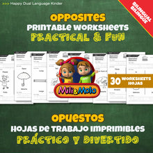 Load image into Gallery viewer, Opposites / Opuestos Worksheets_BILINGUAL / BILINGÜE_ENGLISH / SPANISH
