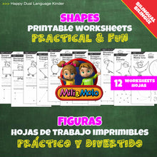 Load image into Gallery viewer, Shapes / Formas Worksheets_BILINGUAL / BILINGÜE_ENGLISH / SPANISH