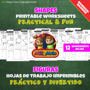 Shapes / Formas Worksheets_BILINGUAL / BILINGÜE_ENGLISH / SPANISH