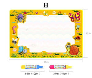 1G-Magic Water Painting Drawing Mat & 2 Pens Doodle Board Coloring Books for Kids Children Educational Toys