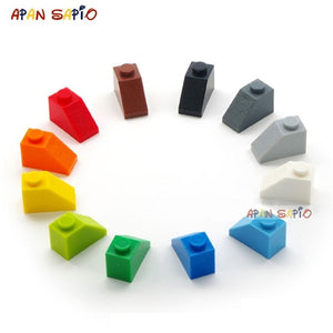 120pcs DIY Building Blocks Thick Figures Bricks Slope 12Colors Educational Creative Size Compatible With lego Toys for Children
