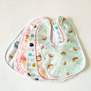 2pcs Waterproof Baby Bibs Cartoon Cotton Bib Newborns Bibs Burp Cloth Baby Scarf Bandana Bibs for Children Boys Girls Baby Stuff
