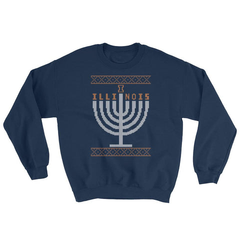 U of Illinois - Champaign - Menorah Ugly Sweater