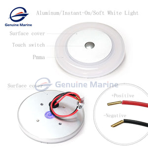 3W Touch Ceiling LED Light 12V Memory Light with Stepless Dimmable - GenuineMarine
