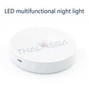 THALASSA 3.7V USB charging multifunctional night light infrared human body induction magnet adsorption night light RV yacht accessories