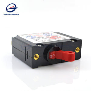 Toggle Electric Magnetic Circuit Breaker 15Amp-50Amp ON/Off One Pole Red Handle - GenuineMarine