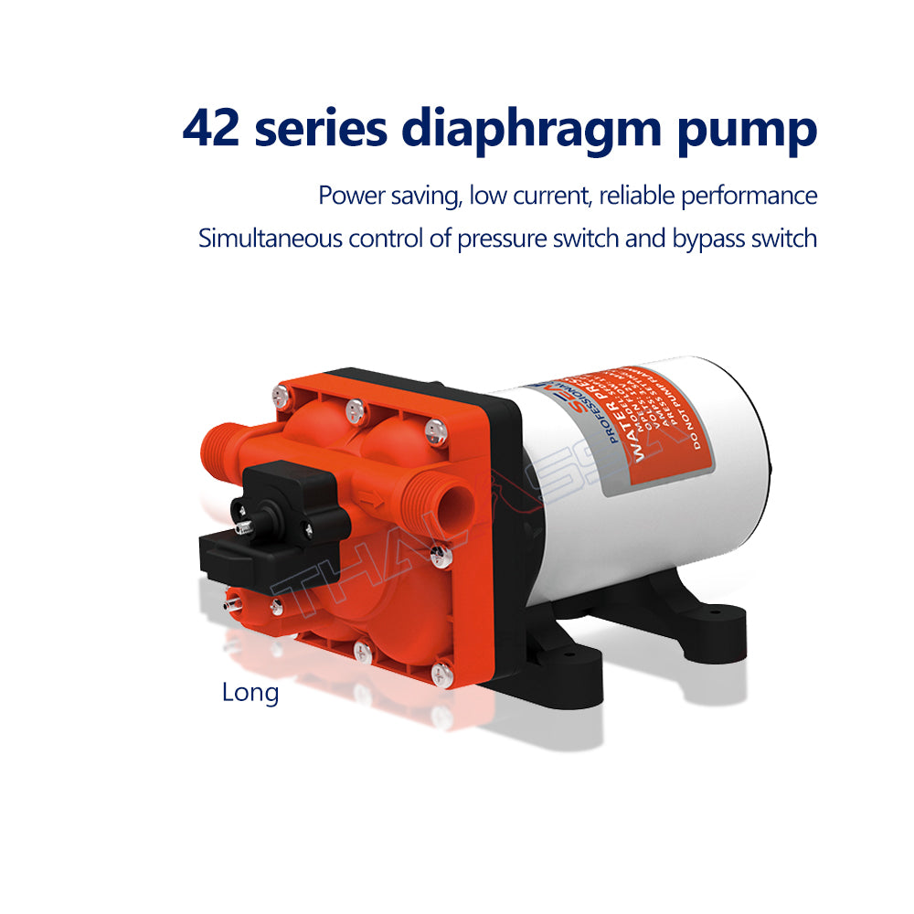 Seaflo42 Series Diaphragm Pump 12V24V RV Pump DC Booster Pump Self-Priming Pump Automatic Pump Ship Water Pump - GenuineMarine