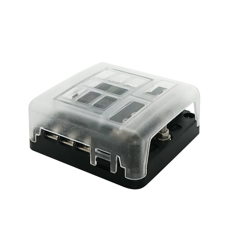 6 Circuit Standard Blade Fuse Holder Fuses Box - GenuineMarine
