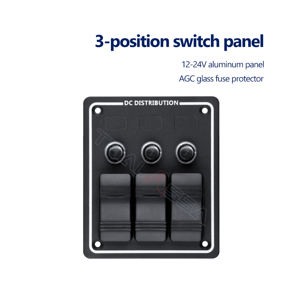 Yacht Waterproof Switch Panel 1 Digits 3 4 5 6 8 with Insurance Multi-function Panel Seat Yacht Ship Accessories - GenuineMarine