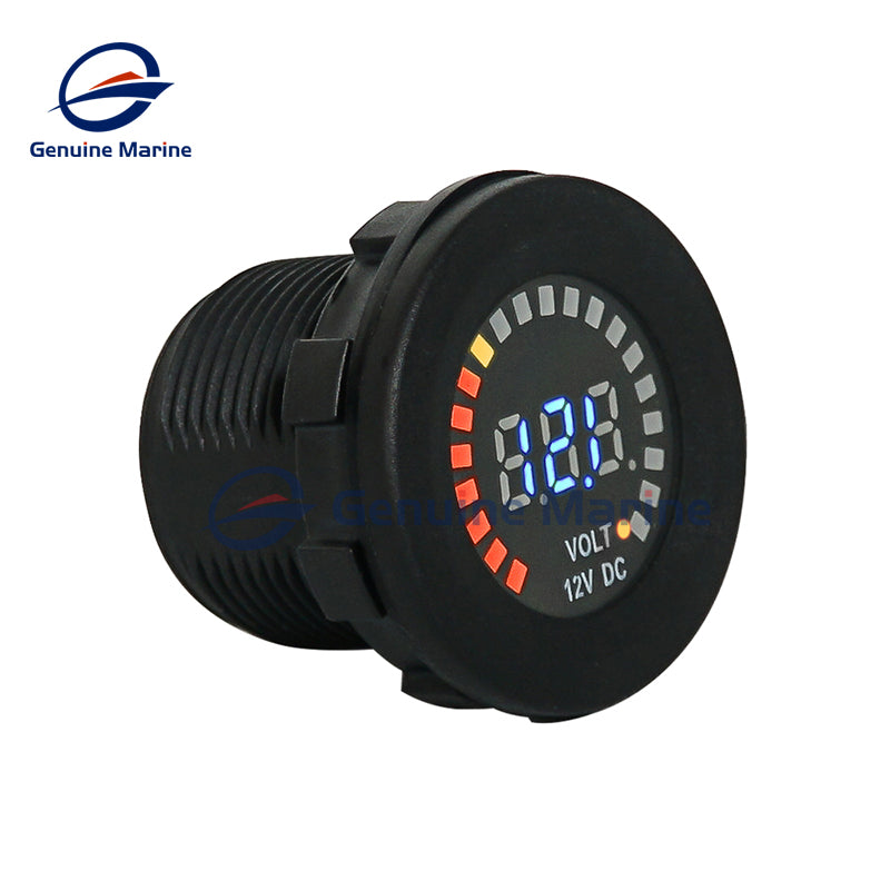 12V DC Voltmeter Color LED Digital Display 5-15V Battery Monitoring - GenuineMarine