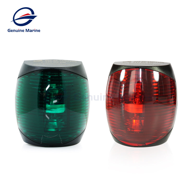 12V Marine Red/Green LED Plastic Navigation Lights Signal Lamp - GenuineMarine