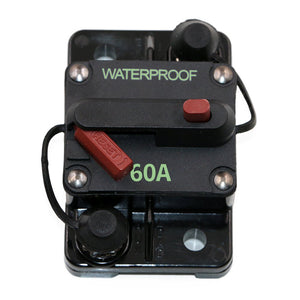 50/60 Amp Resettable Surface Mount Thermal Circuit Breaker Red Switch - GenuineMarine