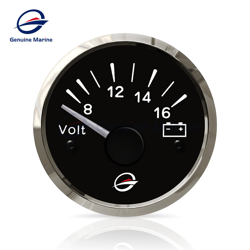 "12V Electrical Voltmeter Gauge Meter 2"" 52mm - GenuineMarine"