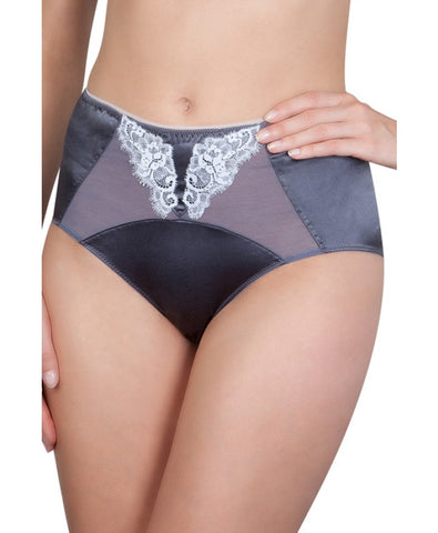 La Vintage Grey High Waisted Brief