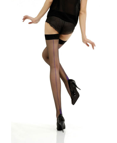 Backseamed and Heel Hold Up Stockings