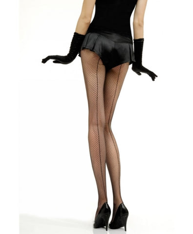 Vintage Legs Seamed Fishnet Tights