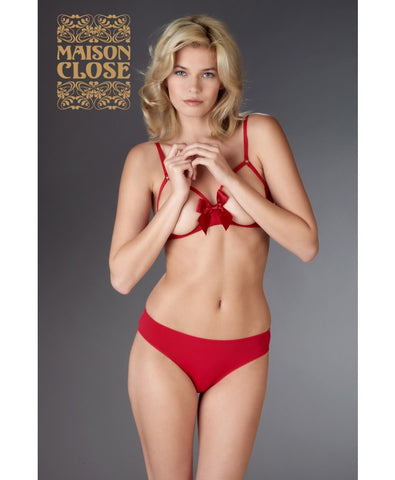 Le Petit Secret Red Cupless Bra with Bow
