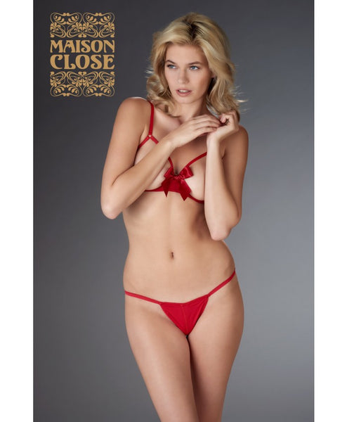 Le Petit Secret Open Thong Red