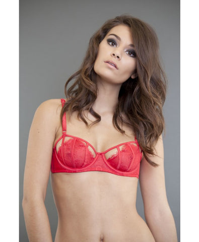 Angelina Red Cut Out Bra