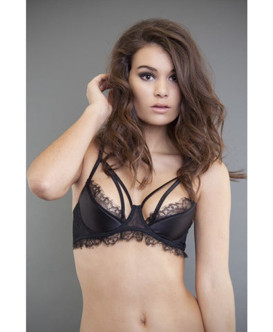 Black Rosa Barely There Bra