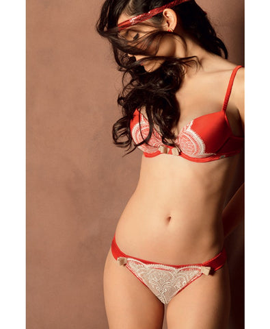 Red L'Honorable Padded Plunge Bra
