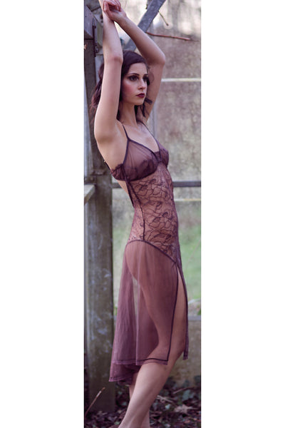 Love Story Truffle Sheer Fishtail Lace Slip