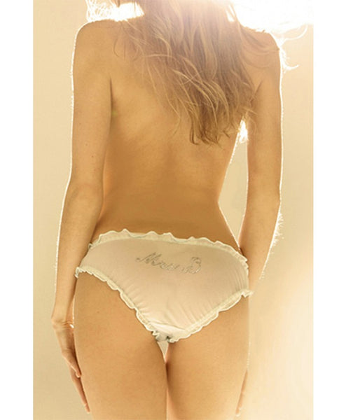 Just Married Silk Chiffon Knickers