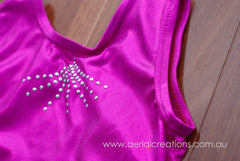 Gymnastic tank-style leotards