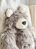 ClaraLoo Large Plush Bear Bud - Grey Grizzly