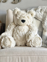 ClaraLoo Large Plush Bear Bud - Ivory Polar Minky