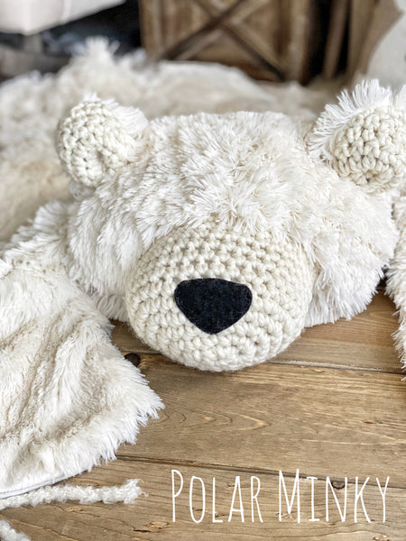 Regular Size Polar Minky Bear Rug