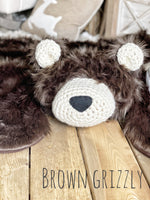 Regular Size Brown Grizzly Bear Rug