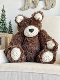 ClaraLoo Large Plush Bear Bud - Chocolate Minky