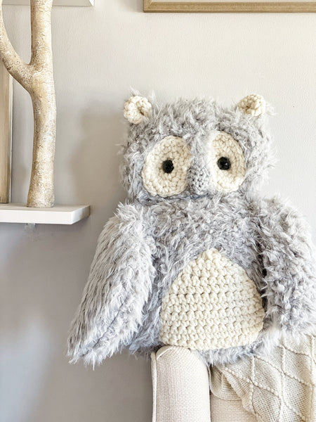 ClaraLoo Owl Plush - Grey